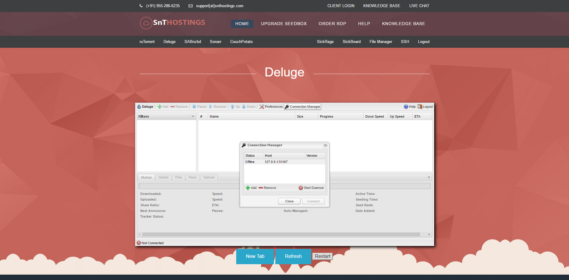 How to use Deluge via Seedbox Panel? - Knowledgebase