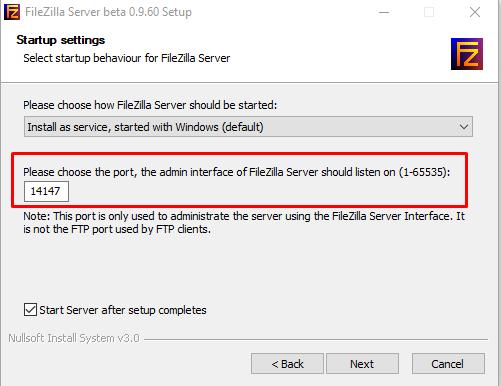 Filezilla Server 4