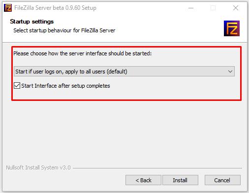 Filezilla Server 5