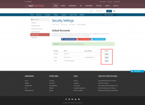 Security Setting - SnTHostings