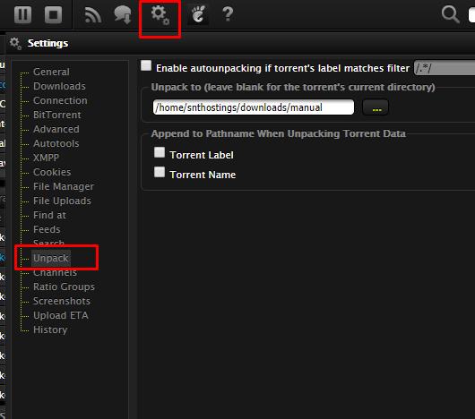 Configure ruTorrent
